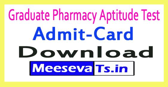 Graduate Pharmacy Aptitude Test GPAT Admit Card Download 2019