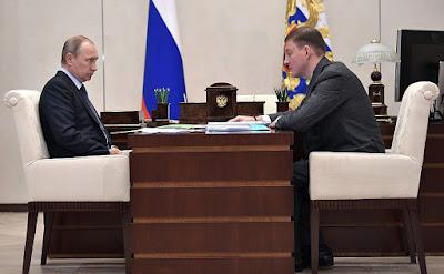 Vladimir Putin had a meeting with Governor of Pskov Region Andrei Turchak.