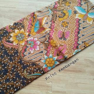 kain batik motif bunga parang