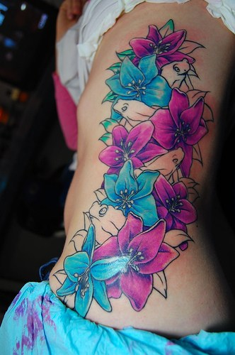 Blue Flower Tattoo Designs: Hawaiian Flower Tattoos
