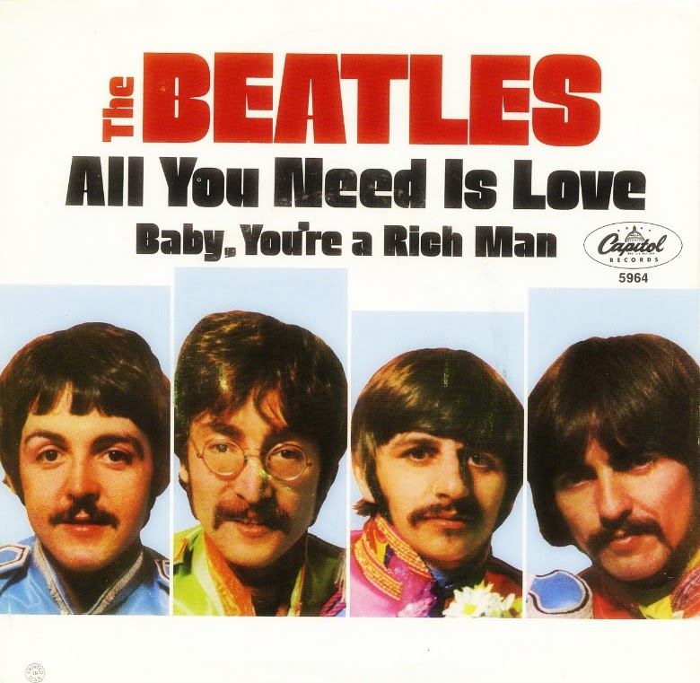 "The Beatles - Capa do single ""All You Need Is Love"" (1967)"