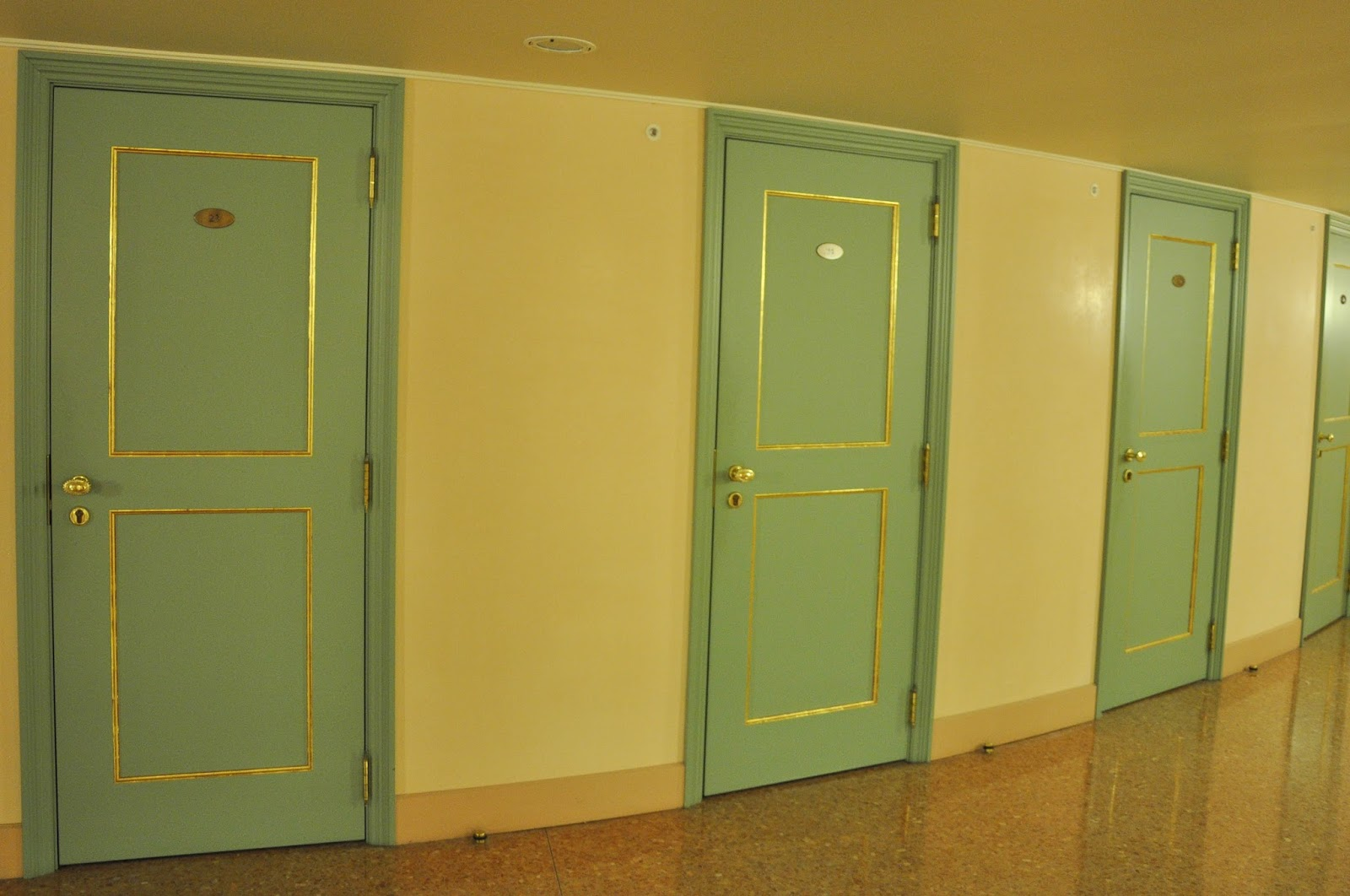 The doors leading to the boxes, La Fenice, Venice, Italy