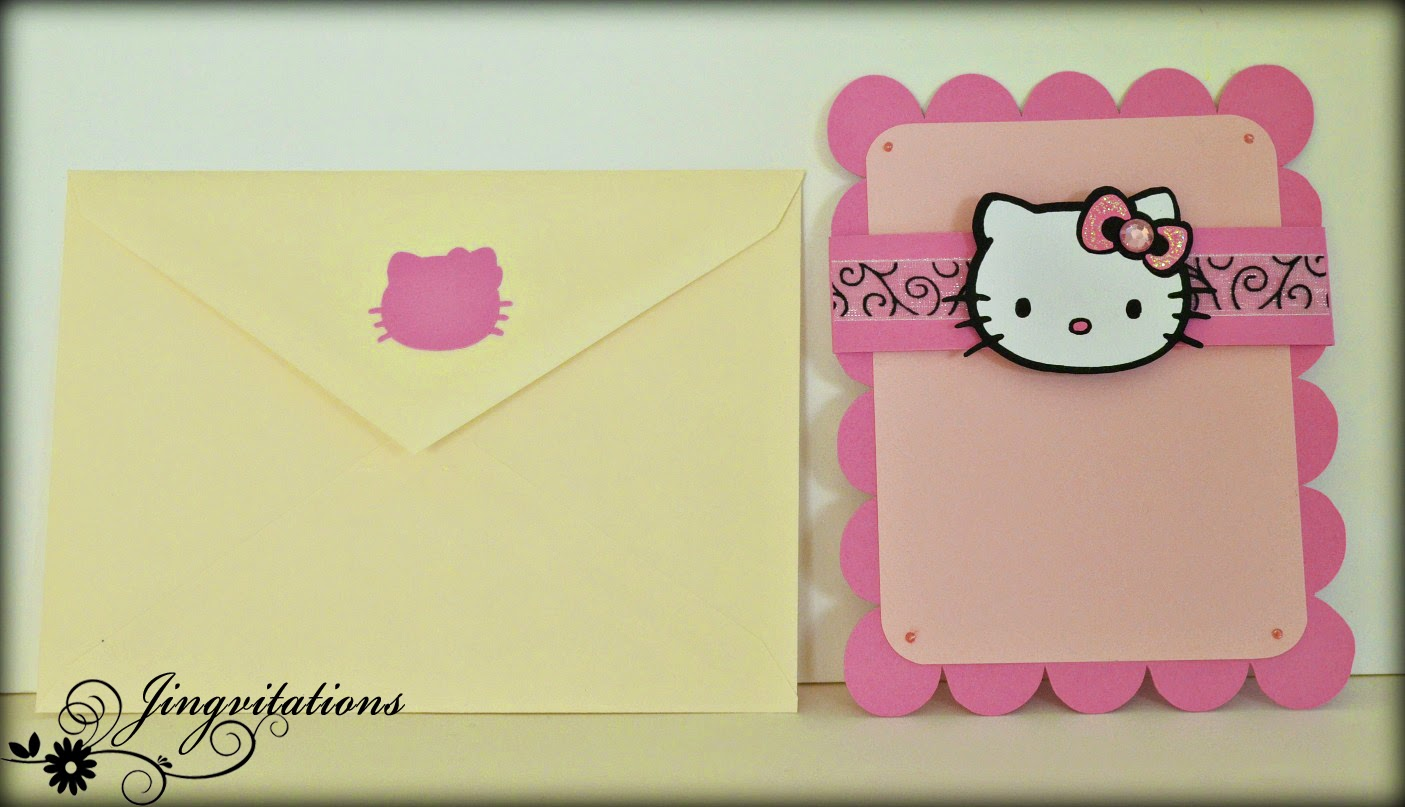 jingvitations hello kitty card birthday invitations