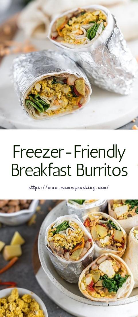 Freezer-Friendly Breakfast Burritos #healthy #recipe