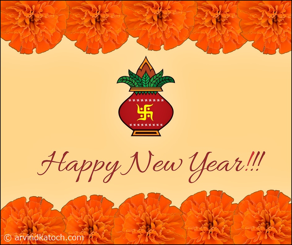 hd true pic new year cards 2020 marigold flower based happy new year card indian style marigold flower based happy new year