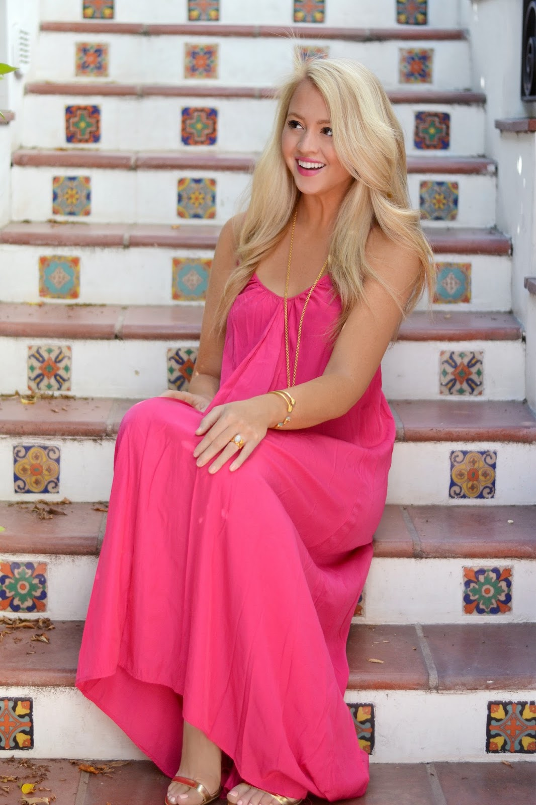 shopbop pink maxi dress