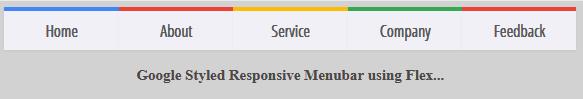 Desktop Version of Google Style Menu bar