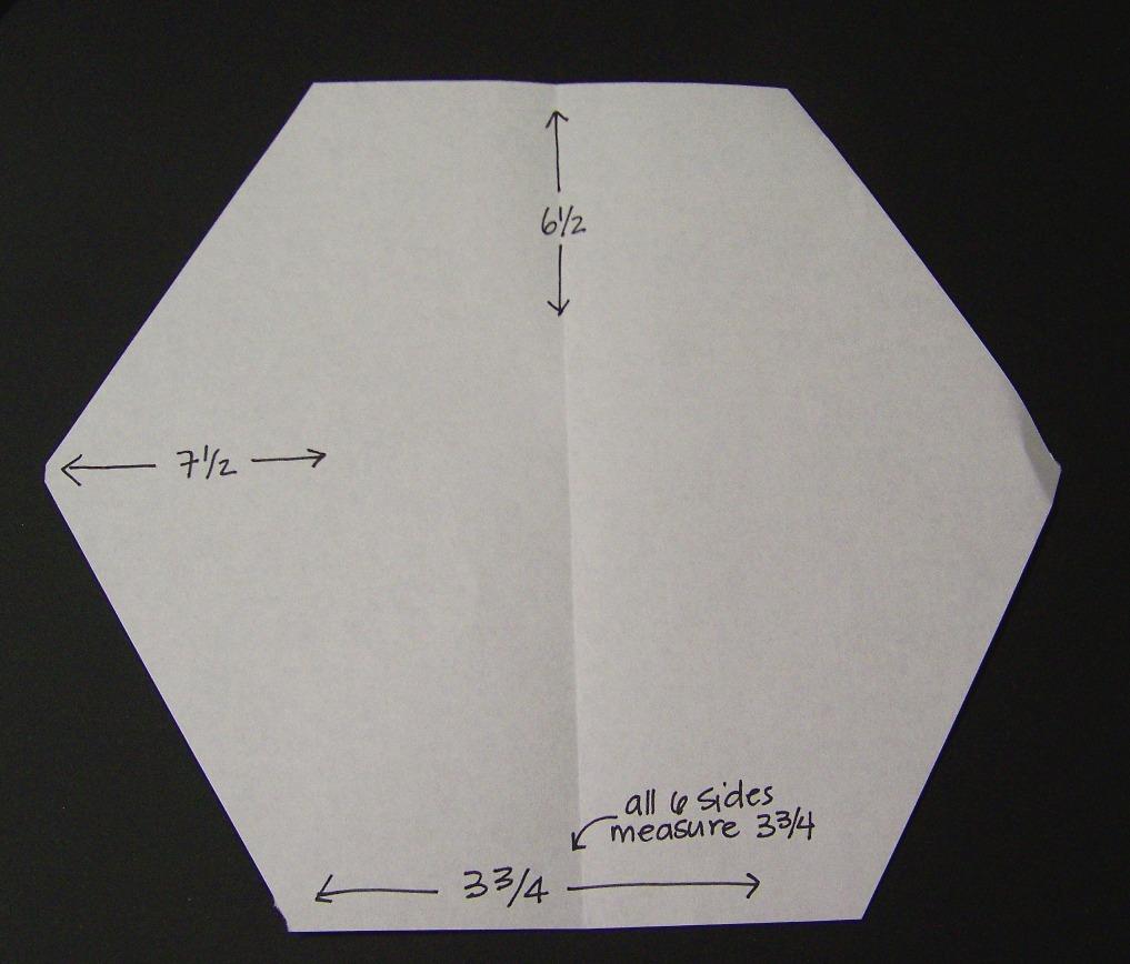 1 5 inch hexagon template - sew lux fabric blog hexagon block tutorial