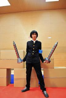 Cosplay de Kumagawa, de Medaka Bok, en el Akihabara @ Deep 2016