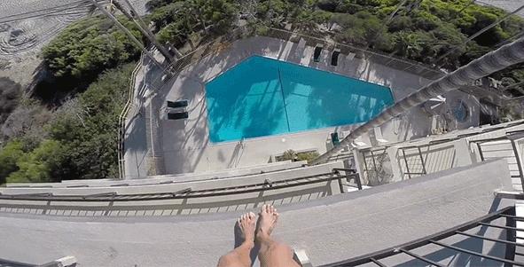 salto saltar hotel arriscado piscina