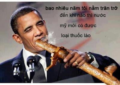 Những hình ảnh hài hước vui, độc đáo nhất, obama hut thuoc lao, obama cam dieu hut thuoc