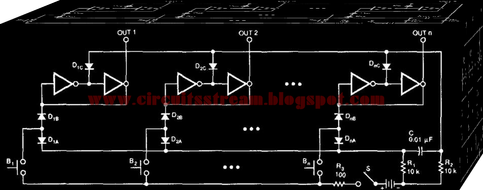 Simple Digital Switching Circuit Diagram