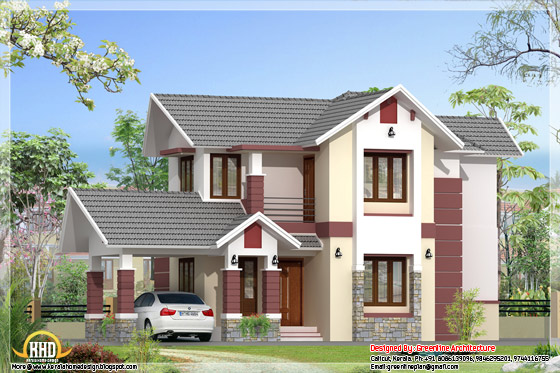 1680 square feet 3 bhk kerala model home