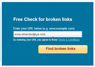Cara Cek Link Blog Tidak Aktif Atau Mati dan Mencegah Error 404 Pada Blog