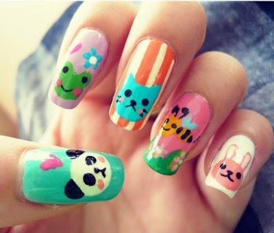 Imagenes de uñas decoradas de dibujos animados con tiernos diseños