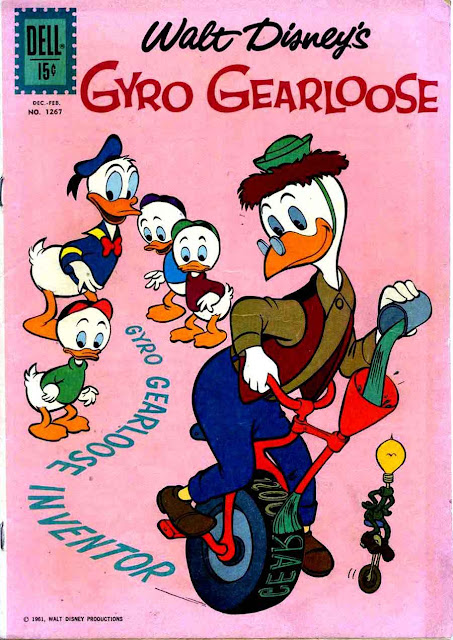 Gyro Gearloose / Four Color Comics #1267 dell silver age 1960s comic book cover art by Carl Barks