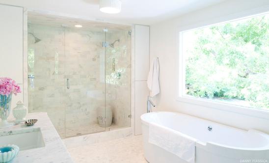 Pretty White Bathroom Oasis