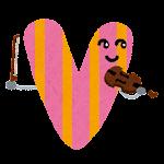 アルファベットのキャラクター「VIOLIN の V」