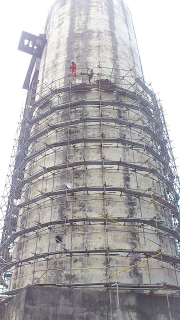 Rapid Bus Terminal Cheras - Demolished Silo - 02 Scaffold Erection
