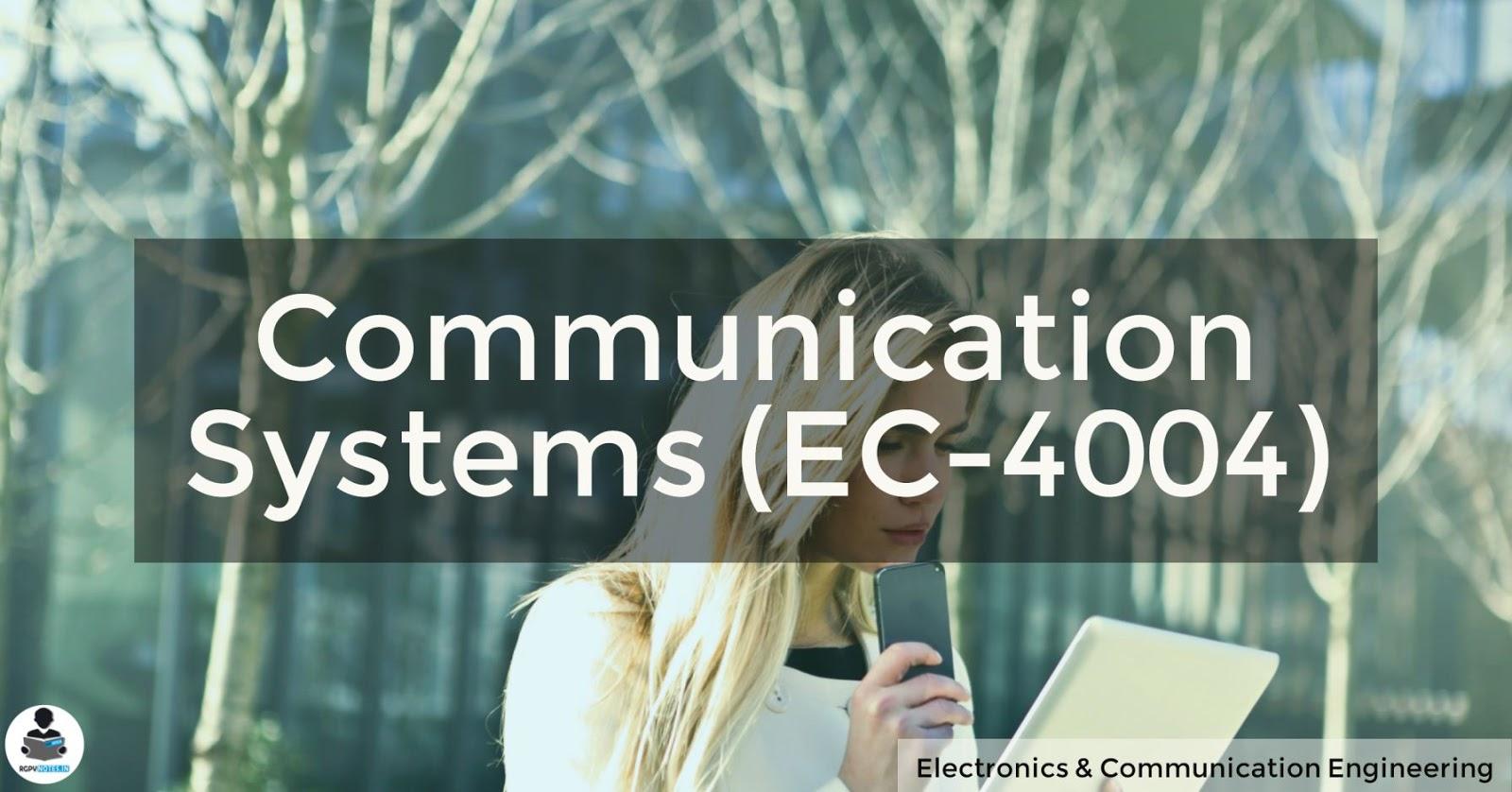 Communication Systems (EC-4004)