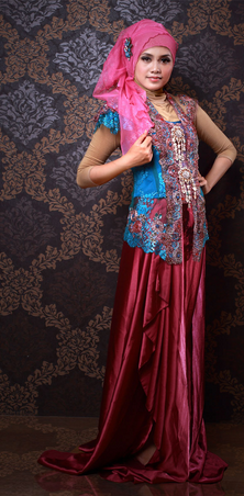 Gambar Kebaya Muslim untuk Akad Nikah