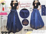 Baju Muslim Embroidery Jeans Skirt GC3320
