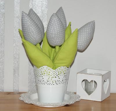 Tulipany z bawełny