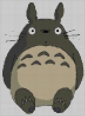 Grille gratuite de point de croix du manga Mon Voisin Totoro