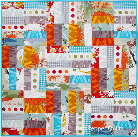 Red Pepper Quilts Jelly Roll Jam Blog Hop Lush Uptown Quilt