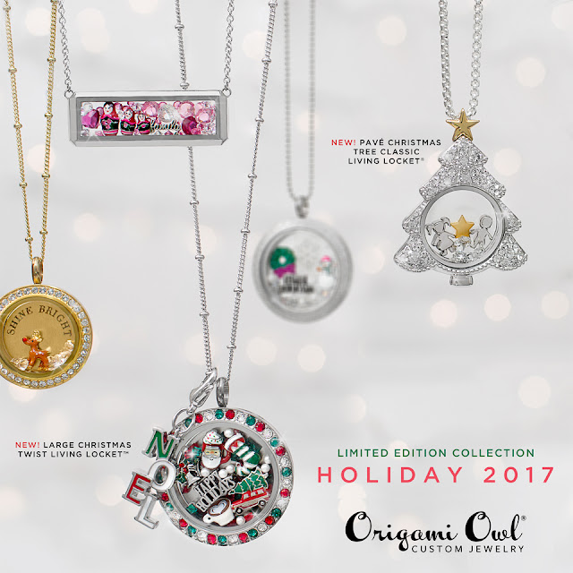 Origami Owl Living Locket 2017 Holiday Collection and Charms available at StoriedCharms.com