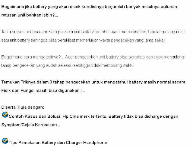 Trik Cek Battery hp