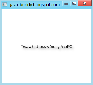 Drop shadow on text, using JavaFX