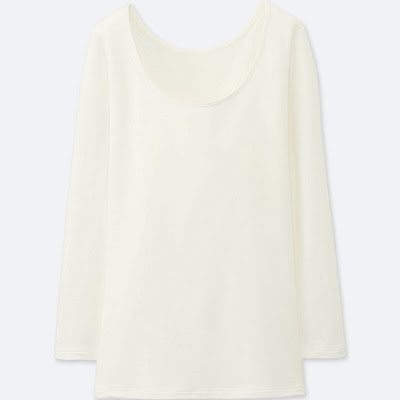 uniqlo women heattech extra warm scoop neck t shirt