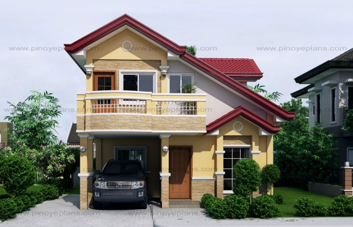 MHD 2015019 View02WM 700x450 - 24+ Modern Philippines 2 Storey Small House Designs PNG