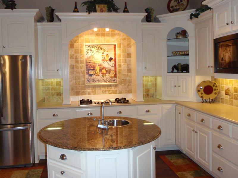 White Cabinet Kitchen Backsplash Ideas: Antique White Kitchen Cabinets Pictures