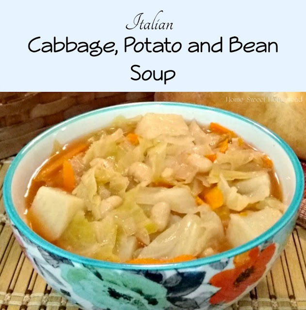 Home Sweet Homestead: Italian Cabbage, Bean, and Potato Soup
