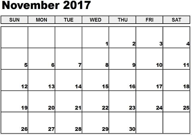 Calendar 2017 Holidays