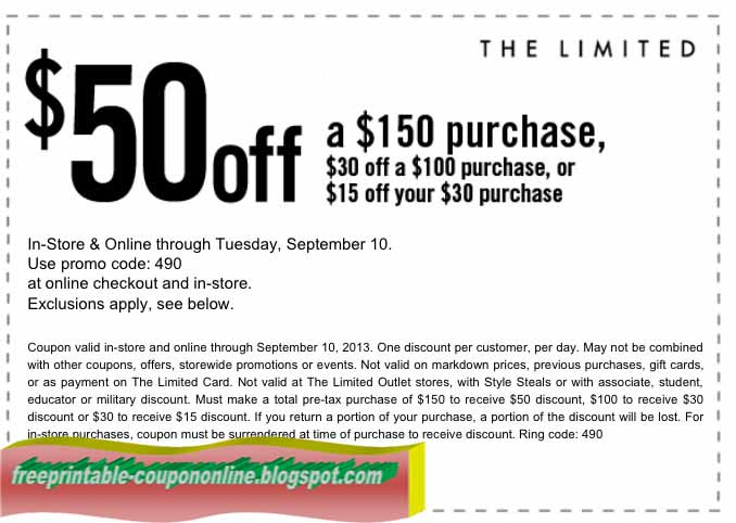 Past The Limited Coupon Codes