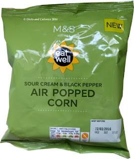 M&S Eat Well Sour Cream & Black Pepper Air Popped Corn: