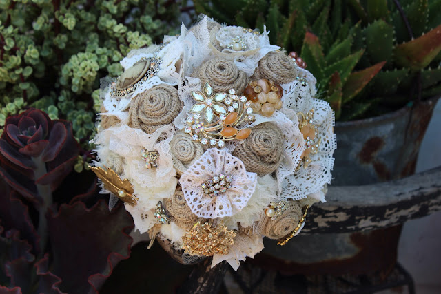 Rustic, Vintage Wedding Bouquet