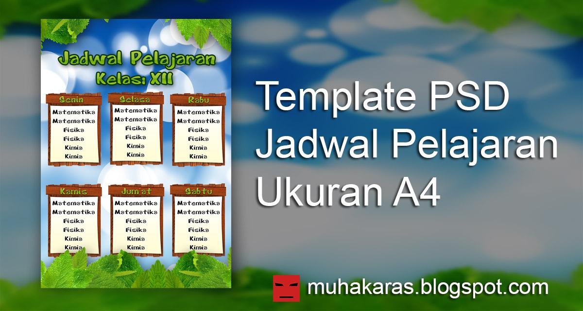 Muhakaras Download Template Jadwal Pelajaran