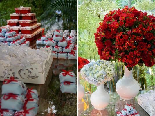 Decoração do Casamento Vermelho e Branco 1  Solteiras Noivas