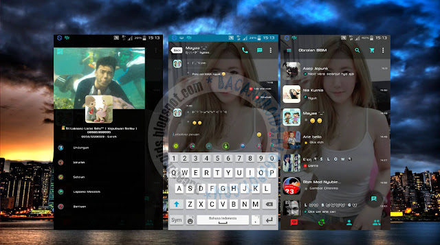 download BBM2 Mod Tema Transparent Apk Versi Clone