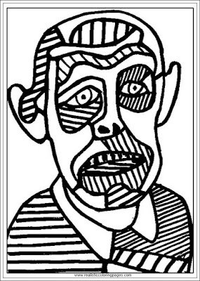self portrait jean dubufet art coloring pages for adults
