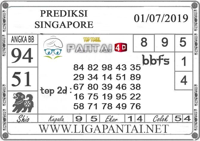 "PREDIKSI TOGEL ""SINGAPORE"" PANTAI4D 1 JULI 2019"