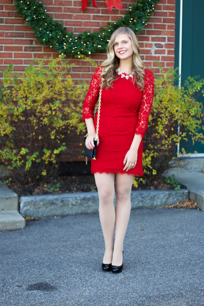 4fb8e26ca1 Style Cubby - Fashion and Lifestyle Blog Based in New England: Red Lace  Dress