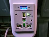 スカイマークの充電器USBと110V60Hzに対応