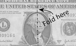 Dollar Bill With Fold Line