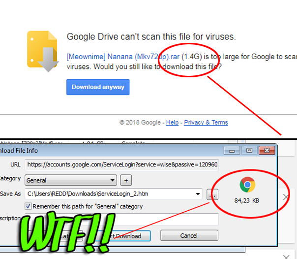 Mengatasi Gagal Download File Google Drive Di Idm Yang Berubah Jadi Servicelogin Htm Wandiweb