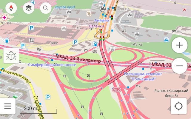 Карты OpenStreetMap в программе под iPhone/iPad